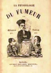 Le fumeur. Dessin d'Alcide Lorentz