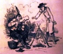 « Anthropophage: « un philanthrope qui va trop loin ». Dessin de Bertall (1878)