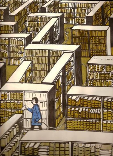 Le fil d'Ariane dans les magasins d'une bibliothèque et sur le Web