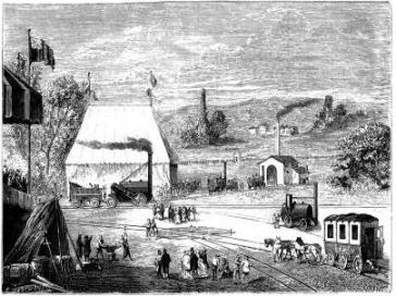 Concours de locomotives organisé par la compagnie de Liverpool à Manchester (1829)