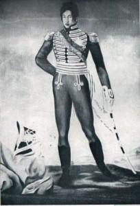 Photographie d'après un tableau (flatteur ?)  d'André Coppalle (1797-1845) peintre et auteur d'un Voyage dans l'intérieur de Madagascar et à la capitale du roi Radama 1er.
