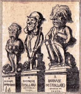 Les statues de l'avenir. Dessin de Daumier