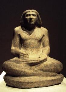 Dersenedj, scribe administrateur de domaine. Ancien Empire, 5e dynastie, vers 2400_avant J.C.
