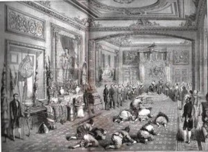 ambassadeurs du Siam reçus par la reine d'Angleterre (1858)