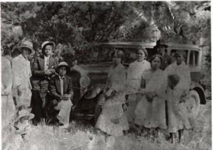 Devant la Nash six à Madagascar