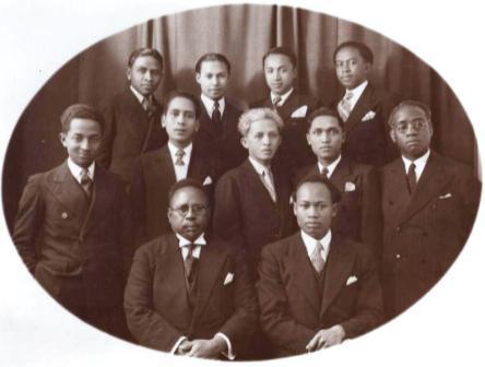 Quelques-uns des fondateurs de l'AEOM en 1935