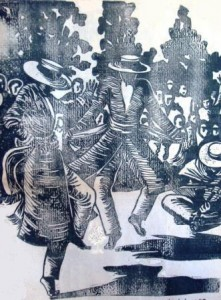 Mpilalao dansant au son du lokanga