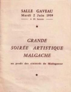 Soirée artistique malgache 1959
