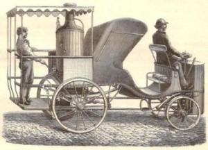 Cabriolet à vapeur. 1888