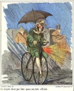 L'academicien en vélocipède