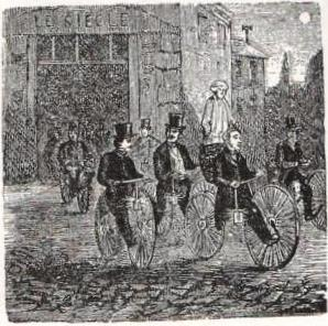 Velocipédistes en 1868