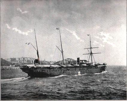 Le paquebot Iraouaddi (1895)