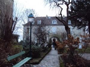 Vue partielle du jardin du Musée de Montmartre