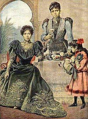 La reine Ranavalona III en exil à Alger