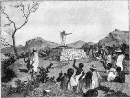 """""""jeune fille indigène au tombeau de ses ancêtres"""""""