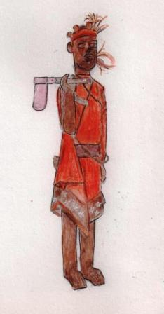 Bûcheron - marionnette betsileo