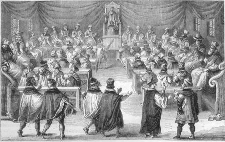 réception d'un docteur au 17e siècle