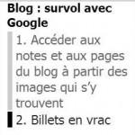 Blog survol avec Google