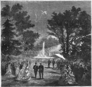 Fête donnée en l'honneur du Shah de Perse dans les jardins de l'Élysée en 1873
