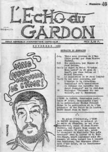 Jean-Pierre Chabrol à la Une de l'Écho du Gardon