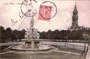 La fontaine Pradier à Nîmes
