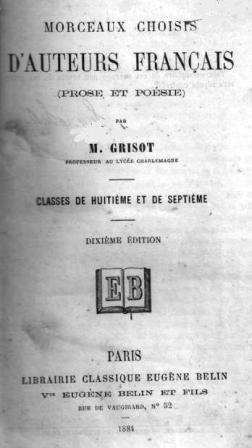 Grisot: Morceaux choisis d'auteurs français