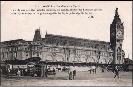 la gare de Lyon à Paris