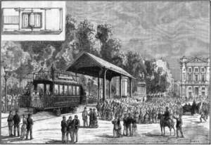 Premier tramway électrique (exposition 1881)