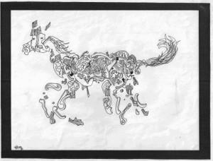 Cheval de 1992 pour 2014, année du cheval