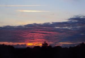 Coucher de soleil à Blainville (Manche)