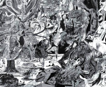Capharnaüm - détail. Dessin de Claude Razanajao