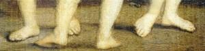 Les pieds des Trois grâces de Raphael