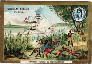 Madagascar - publicité pour le chocolat Moreuil