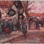 Le drapeau allemand pris à l'ennemi, 1915