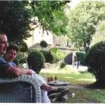 Évelyne et Maurice Lever. Château d'Arpaillargues, août 2005