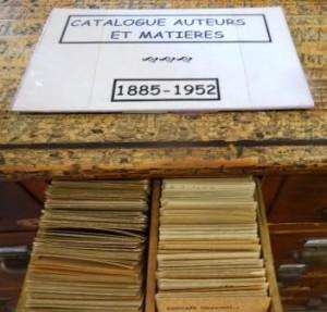 Catalogue sur fiches