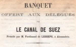 Banquet du Canal de Suez à Alexandrie (1865)