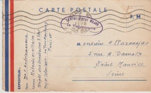 Carte postale Andriamanana à Razanajao 1940