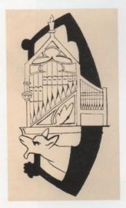 Projet d'orgue gargouille  - dessin d'Erik Satie