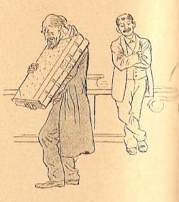 Lecteur âgé transportant un livre à la BN