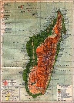Carte de Madagascar en 1895