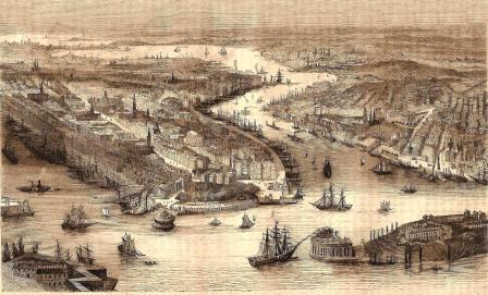 Vue de New York en 1858